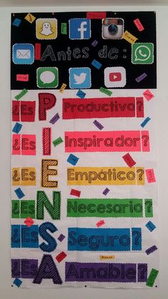 "My Spanish ""Think"" in my classroom."
