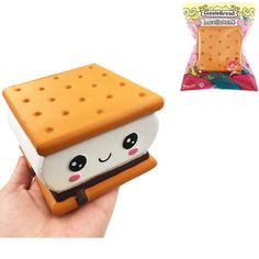 Bakeey Squishiestoys Cookie Sandwich Biscuit Cute Slow Rising Rebound Gift Decor Fun Toys Kids Adult Slimetoy Stress Reliever Cellphones & Telecommunications