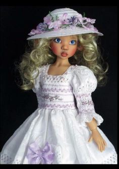 Handmade dress set made for Kaye Wiggs Dolls by ebay seller kalyinny