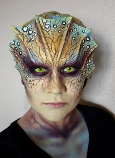 Photos from LA based make-up artists Lymari Millot (Lyma) on the SyFy Face Off special effects make up show Movie Makeup, Scary Makeup, Sfx Makeup, Costume Makeup, Makeup Art, Maquillage Halloween, Halloween Makeup, Halloween Contacts, Artistic Make Up