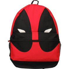Marvel Comics Deadpool Mask Backpack ($45) ❤ liked on Polyvore featuring bags, backpacks, backpacks bags, marvel comics bag, day pack backpack, rucksack bag and knapsack bags