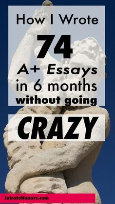Writing good essays without stress? (LONG!)?