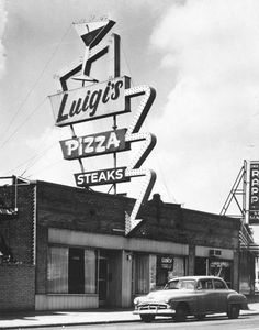 vintage postcard of Luigis  in St Louis, MO