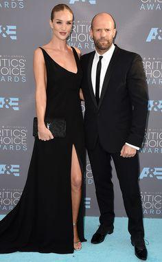 Rosie Hungtington-Whiteley & Jason Statham from 2016 Critics' Choice Awards Red Carpet Arrivals | E! Online