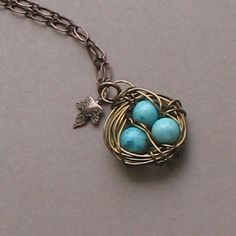 Spring eggs necklace