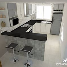 Ideas for kitchen remodel with island layout paint colors - Kitchen - Best Kitchen Decor! Kitchen Room Design, Kitchen Cabinet Design, Modern Kitchen Design, Home Decor Kitchen, Interior Design Kitchen, Kitchen Furniture, Home Kitchens, Interior Paint, Kitchen Soffit