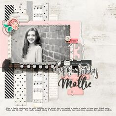 Scrapbook Page Colors: Black + White w/ Pastels | Kelly Prang | Get It Scrapped