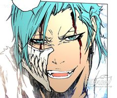 Grimmjow I LIKE HIS HAIR THIS WAY THO!!!