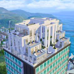 Lotes The Sims 4, Sims Love, Sims Cc, Home Design, Sims House Design, Modern House Floor Plans, Sims House Plans, Sims 4 Penthouse, San Myshuno