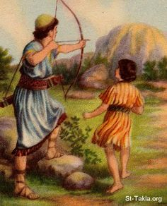 """Jonathan sends a message to David by shooting an arrow   I Samuel 20:35  Jonathan made a covenant with David, saying """"May the LORD call David's enemies to account."""". That the Lord is their witness and that there will be friendship between Jonathans descendants and Davids descendants forever. Then Jonathan had David reaffirm his vow to him. (NIV)(1 Samuel 20:16 )"""