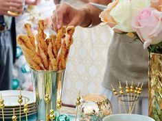 It's not a party without puff pastry cheese straws, and ur Manchego-and-Prosciutto Cheese Straw recipe is the best around. Italian Appetizers, Appetizer Dips, Appetizer Recipes, Party Appetizers, Easter Dinner Recipes, Easter Brunch, Holiday Recipes, Hors D'oeuvres, Prosciutto