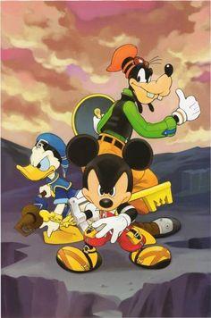 Kingdom Hearts ~ Mickey, Donald and Goofy Kingdom Hearts Games, Kingdom Hearts Ii, Disney Pixar, Disney Characters, Walt Disney, Disney Love, Disney Magic, Kingdom Hearts Wallpaper, Mikey
