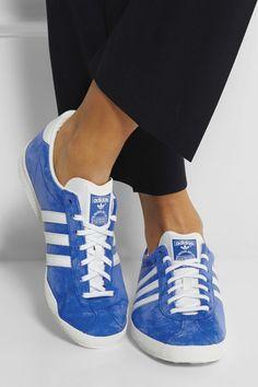 adidas Originals | Gazelle OG suede and leather sneakers | NET-A-PORTER.COM