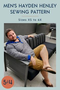 This advanced beginner sewing pattern offers several different sleeve options as well as a neckband or hood finish. Our men's henley is the perfect piece for year-round wear! Sew one up for the men in your life! Mens Sewing Patterns, Beginner Sewing Patterns, Sewing For Beginners, Clothing Patterns, Fall Sewing, Henley Shirts, Diy Clothing, Printing On Fabric, Print Patterns