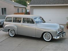 1951 Plymouth Suburban Two Door Wagon Passenger Side Front View