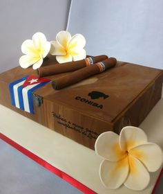 Cohiba cigar box cake... I have until September to figure out how to make this cake for my dad!! Awesome!!!