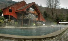 Termas de Huife, one of many hot springs resorts in Chile.  We visited this one.
