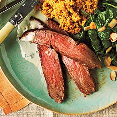 Learn how to cook Chipotle-Rubbed Flank Steak in this quick how to video. Ready in 25 minutes and coming in at less than 300 calories, this spicy steak with Gorgonzola cheese sauce is a flavorful and filling meal.