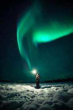 Aurora in Lapland, F