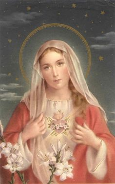 Immaculate Heart of Mary, Queen of Heaven (via Alice Chavez)
