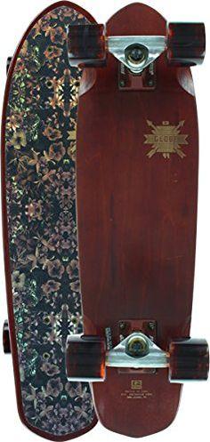 "Globe Blazer Dead Flowers Brown Complete Skateboard Cruiser - 8"" x 26"""