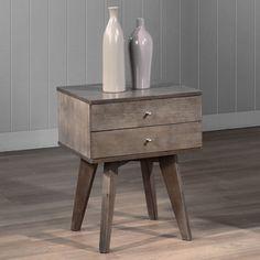 Jones Two-drawer Light Charcoal Nightstand