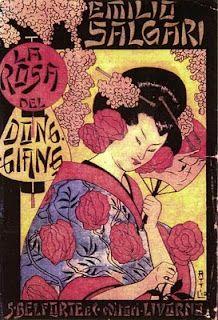 La Rosa del Dong-Giang. Anno. 1897. Ed del 1907/Copertina di A. Mussino. Già pubblicato in 28 puntate col titolo: Tay-See e con finale diverso sul quotidiano la Nuova Arena di Verona