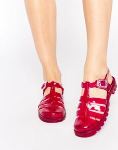 Image 1 of JuJu Maxi Jelly Flat Sandals