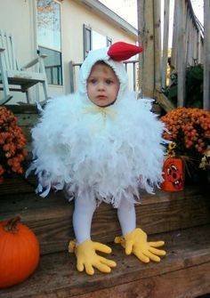 Hen costume for kids, carnival and Halloween - Disfraz de Galllina para niños, disfraces animales carnaval
