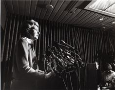 It's #ThrowbackThursday! Here's a shot of Phyllis  Schlafly speaking at the National Press Club in 1987.