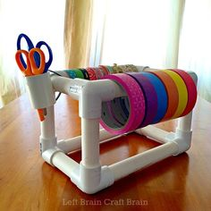DIY PVC Pipe Tape Dispenser - Left Brain Craft Brain