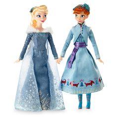 Disney Anna and Elsa Classic Doll Set - Olaf's Frozen Adventure - 11 Olaf Frozen, Frozen Dolls, Disney Frozen Elsa, Frozen Heart, Disney Barbie Dolls, Disney Princess Dolls, Princess Toys, Princess Anna, Anna Et Elsa