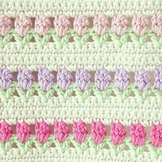 Flowers In A Row Afghan - free crochet pattern on Ravelry