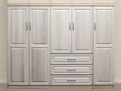 Delightful Gothic Cabinet Craft   Raised Panel Wall Closet System 3 Piece Set,  $2,489.00 (http://www.gothiccabinetcraft.com/raised Panel Wall Closet System 3 Piece Set  ...
