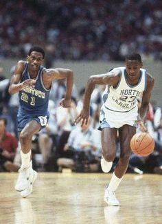 Final Four. North Carolina Michael Jordan in action vs Georgetown Eric 'Sleepy' Floyd at Louisiana Superdome. New Orleans, LA Manny Millan Michael Jordan Unc, Michael Jordan Pictures, Jeffrey Jordan, Usc Basketball, Basketball Pictures, Love And Basketball, Basketball Legends, Final Four, Basketball