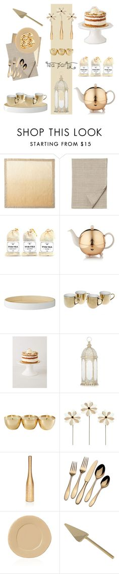 """""""Afternoon Tea Party #162"""" by vbasianioti ❤ liked on Polyvore featuring interior, interiors, interior design, home, home decor, interior decorating, Kim Seybert, Toast, TWG Tea Company and Lene Bjerre"""
