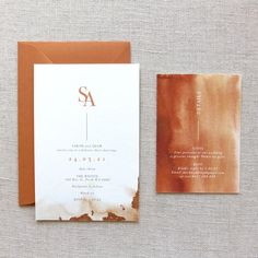 Our Burnt Orange Wedding Invitation Suite is a beautiful watercolour explosion of rich terracotta with touches of copper foil. Wedding Invitation Wording Examples, Orange Wedding Invitations, Invitation Set, Wedding Invitation Design, Wedding Stationary, Burnt Orange Weddings, Carton Invitation, Copper Wedding, Boho Wedding