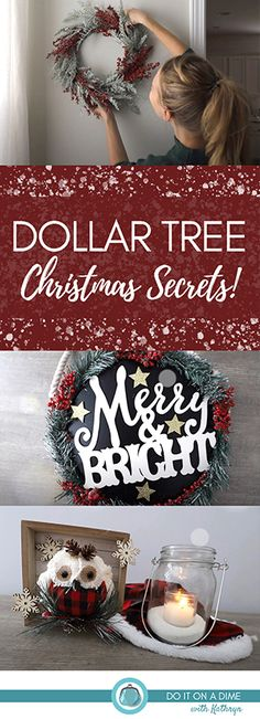 DOLLAR TREE CHRISTMAS SECRETS! 🌟 (DIYs and huge stock up!) Dollar Tree Christmas, Christmas On A Budget, Christmas Candle, Christmas Wreaths, Merry Christmas, Christmas Decorations, Holiday Decor, Inviting Home, Merry And Bright