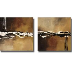 Laurie Maitland ' Concerto I and II' 2-piece Canvas Art Set, Brown