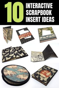 Check out these interactive scrapbook insert ideas you can easily make for your mini albums! Mini Scrapbook Albums, Diy Scrapbook, Mini Albums, Scrapbooking, Craft Projects For Adults, Easy Craft Projects, Album Maker, Envelope Book, How To Make Scrapbook