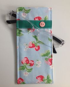 Cath Kidston Stawberry Fabric Glasses Case by sewmoira on Etsy