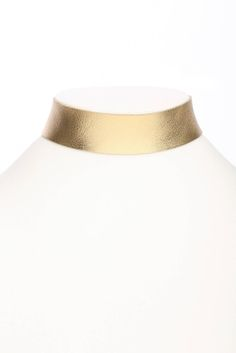 Frasier Sterling Gold Choker Necklace in GOLD