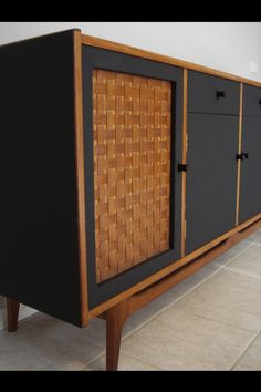Rebecca Williams~ 1970's sideboard. Teak and matt black. Retro mid century modern Danish movement.