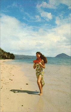 Kahala Beach Wahine c1962 (love this vintage photo)