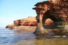 Sandstone Arch, Prince Edward Island. I never made it to see the elephant rock when it exists, I love the ever changing shore line. I must make a point of driving to the western end of the Island and sitting on the beach, to watch the tides change. Never the same and never boring.