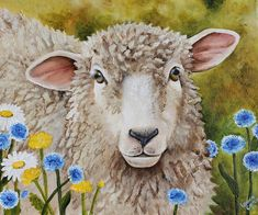 Winnie in the Wild Flowers Painting  - Winnie in the Wild Flowers Fine Art Print