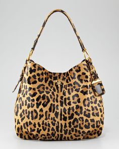 Cavallino Hobo Bag - Prada (Do your bags purr? Tote / Shoulder Hobos Leopard Calf Skin)