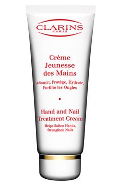 I love this stuff...feels and smells AMAZING!!!!  Clarins Hand & Nail Treatment Cream available at #Nordstrom  I