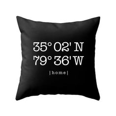 Personalized housewarming gift Custom home location pillow cover Teal personalized cushion Teal housewarming latitude and longitude teal Personalized Housewarming Gifts, Housewarming Present, Black And White Pillows, Black Cushions, Cream Duvet Covers, Pillow Covers, Personalised Cushions, Custom Pillows, Turquoise Cushions