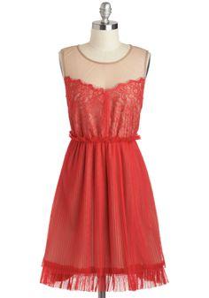 Frankly Scarlet Dress -purrrrdy